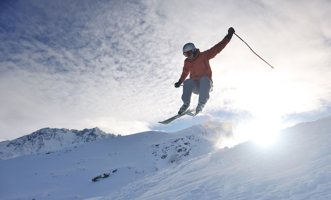 Skiier Jumping